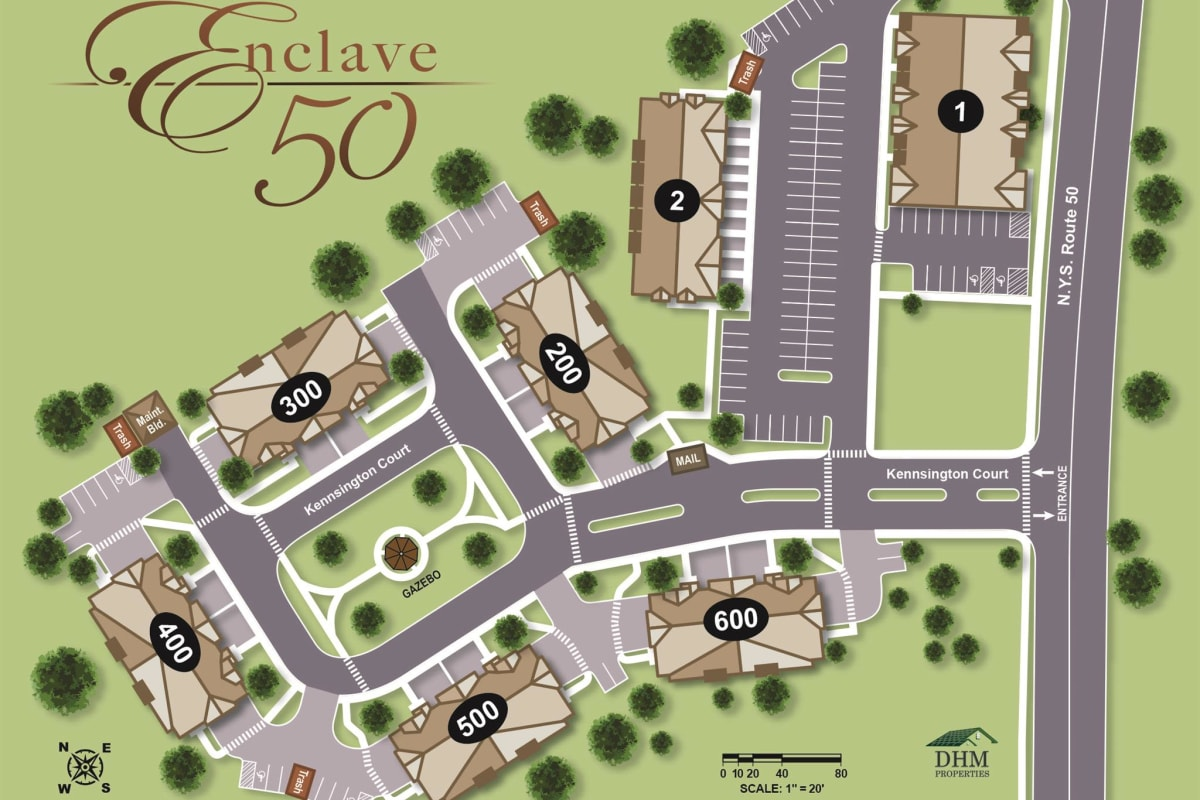 Sitemap of Enclave 50 in Ballston Spa, NY