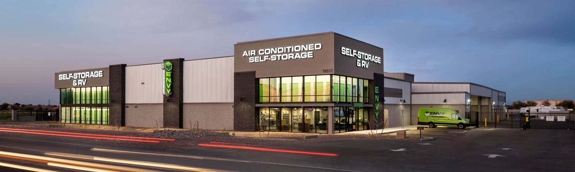 Envy Self Storage & RV facility, managed by 180 Self-Storage
