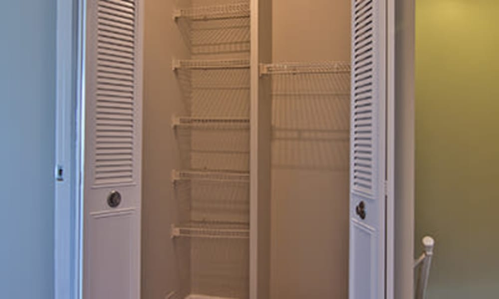 Large closets at The Summit at Ridgewood in Fort Wayne, Indiana