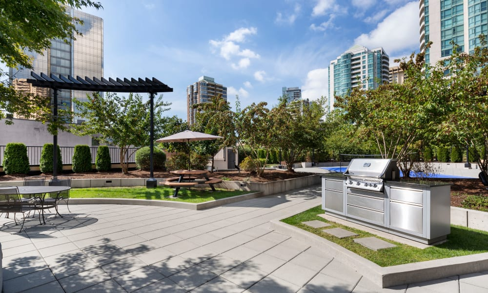 State-of-the-art BBQ grilling station at Panarama Tower in Burnaby, British Columbia