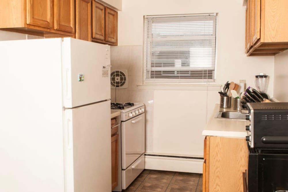 Kitchen at 84-90 Essex Street in Hackensack, New Jersey