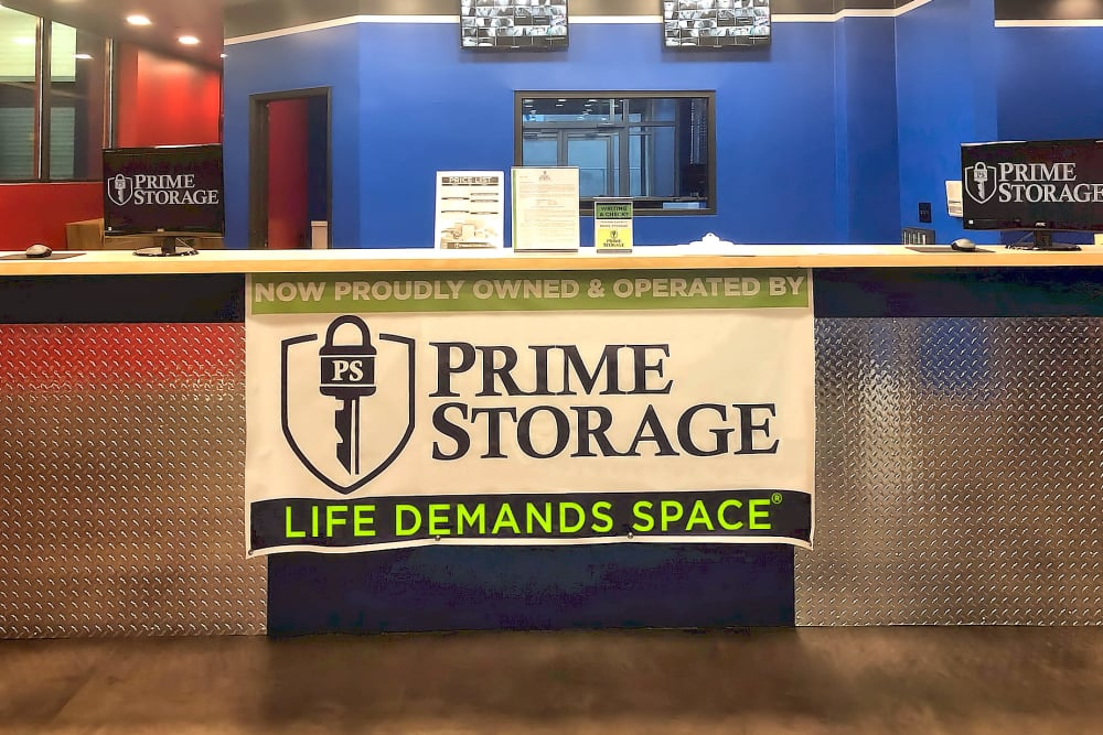 Leasing front desk at Prime Storage in Jamaica, New York