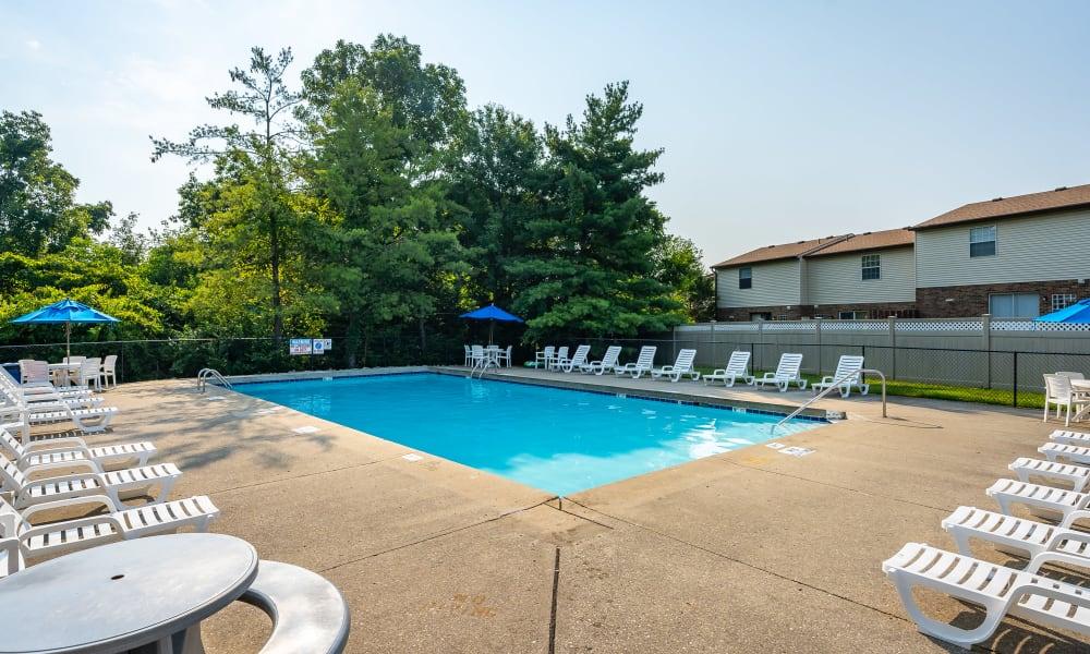 Sparkling pool at Brixworth Apartments in Cincinnati, Ohio