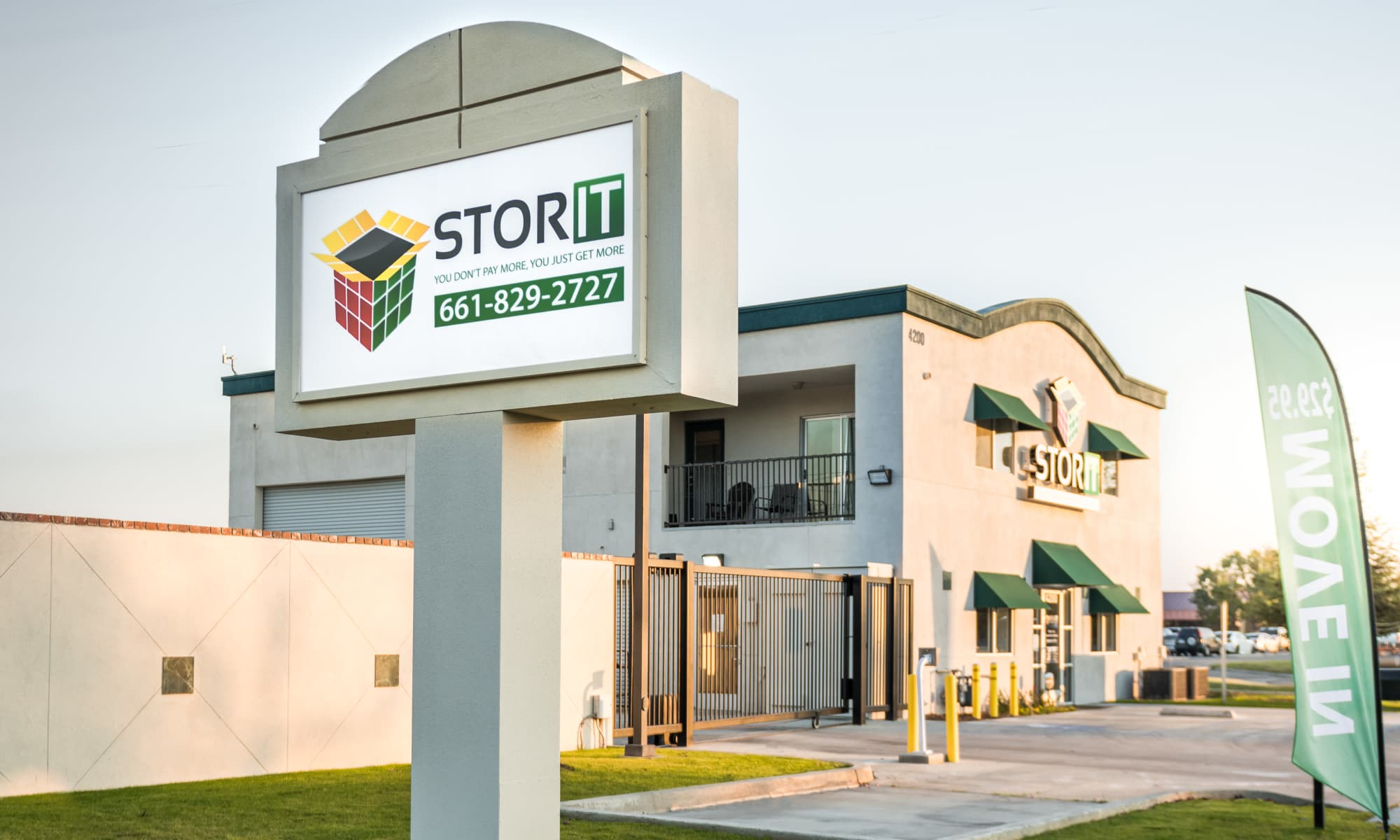 Drive up storage units at Stor It Self Storage in Bakersfield, California