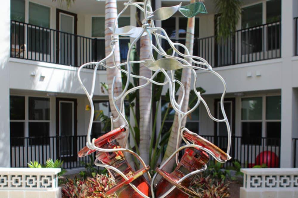 Art display outside Jefferson Westshore in Tampa, Florida