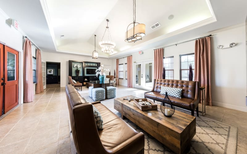 Luxury resident clubhouse at Pavilions at Northshore in Portland, Texas