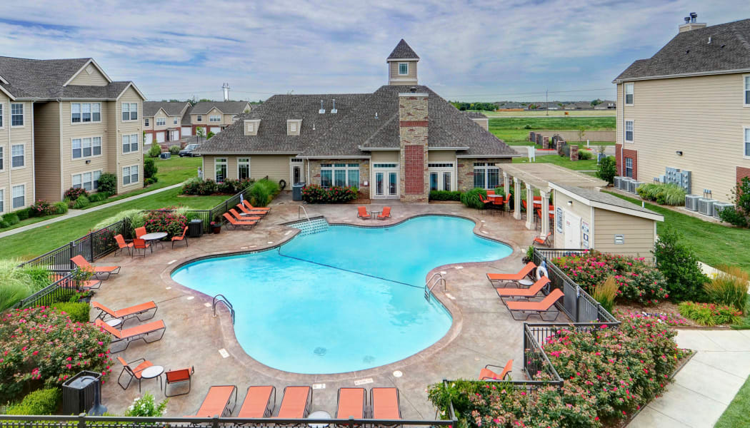 The pool at Colonies at Hillside in Amarillo, Texas