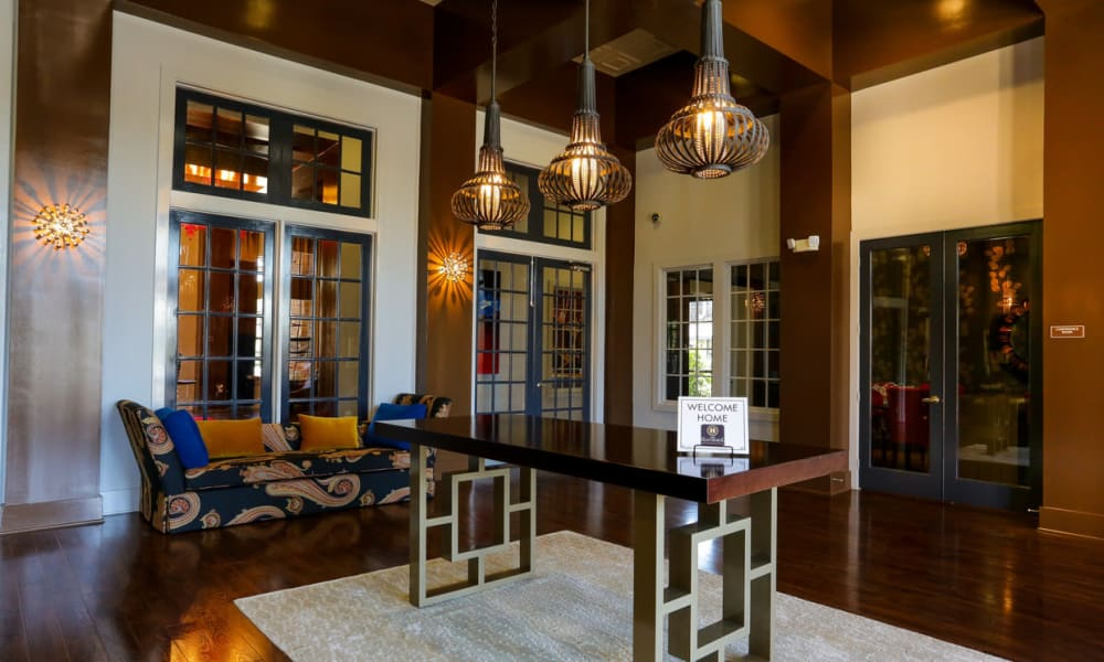Luxurious lobby interior at The Hawthorne in Jacksonville, Florida