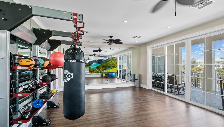 Fitness center and spa at Town Lantana in Lantana, Florida