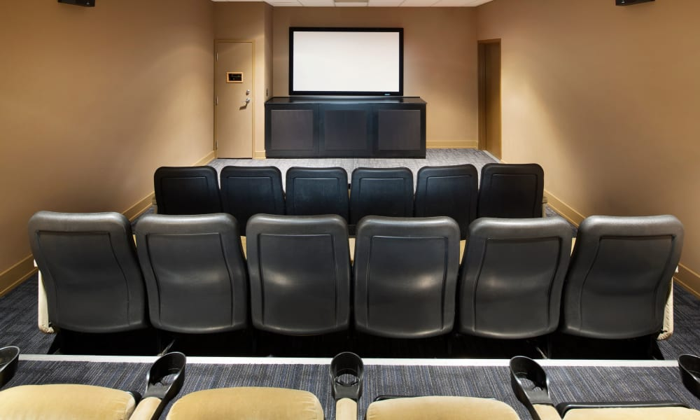 Theater with ample seating at Metropolitan Towers in Vancouver, British Columbia