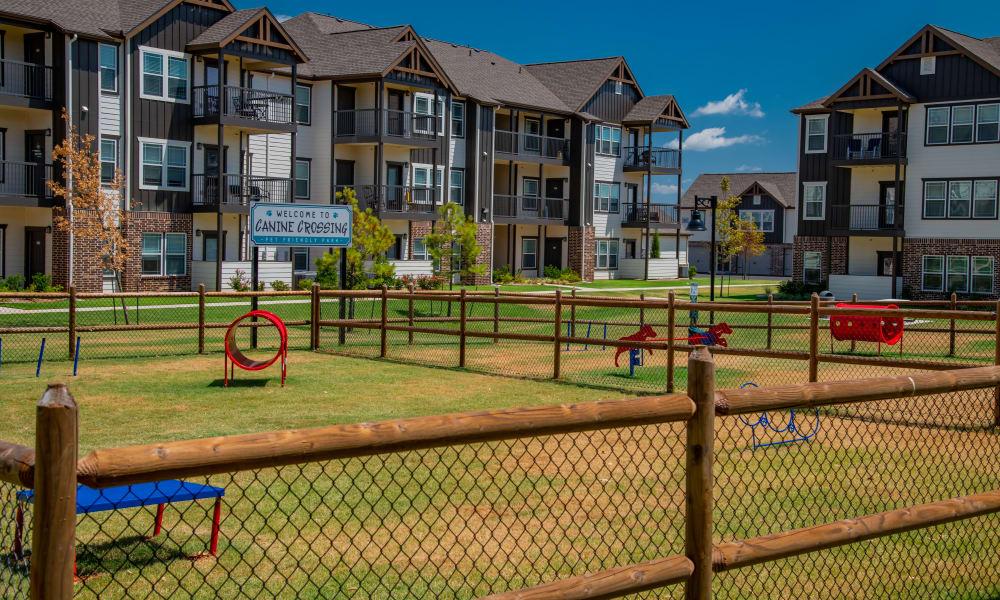 Dog park at Stonehorse Crossing Apartments in Oklahoma City, Oklahoma