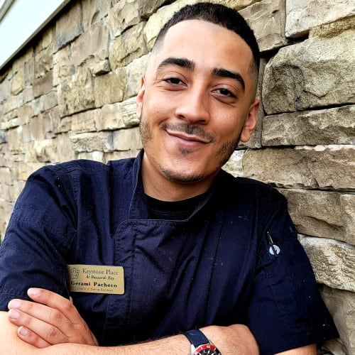 Gerami Pacheco,  Director of Dining Services of Keystone Place at  Buzzards Bay in Buzzards Bay, Massachusetts