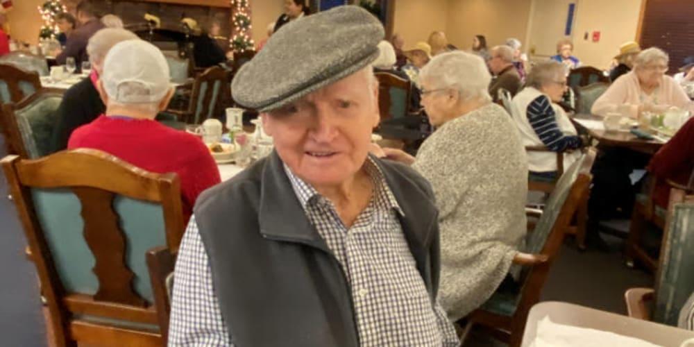 Residents dining at The Springs at Lancaster Village in Salem, Oregon