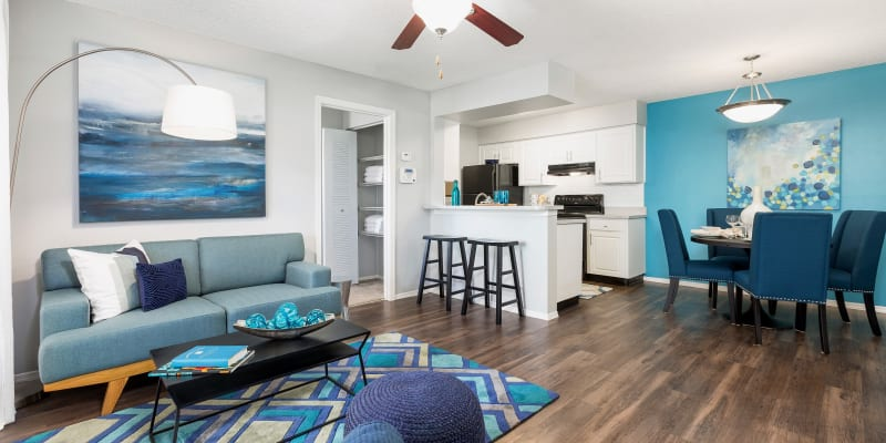 View virtual tour for a 2 bedroom 2 bathroom apartment at Reserve at Lake Irene in Casselberry, Florida