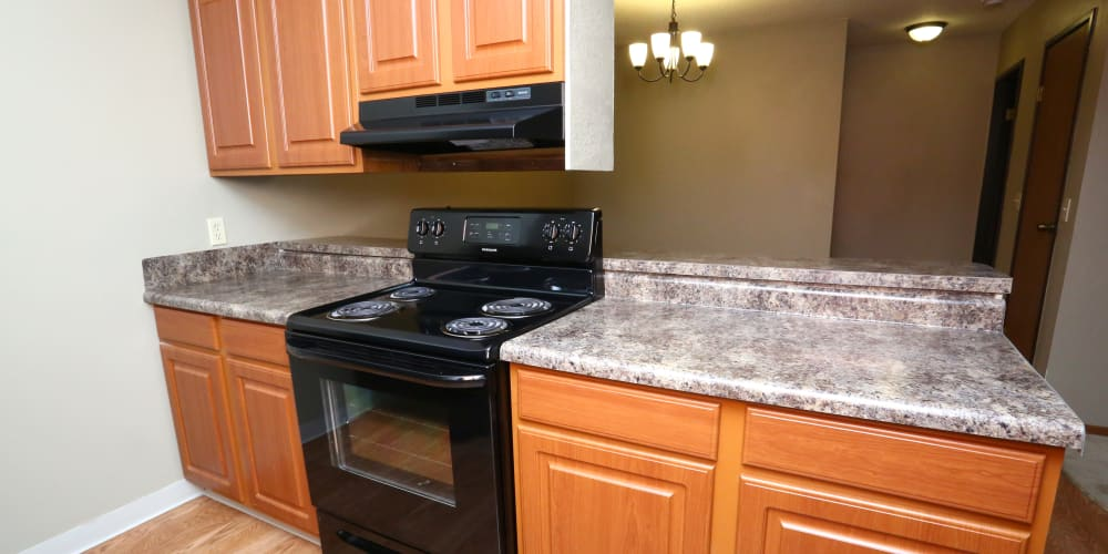 Full kitchens at Country Place in Mount Pleasant, Michigan