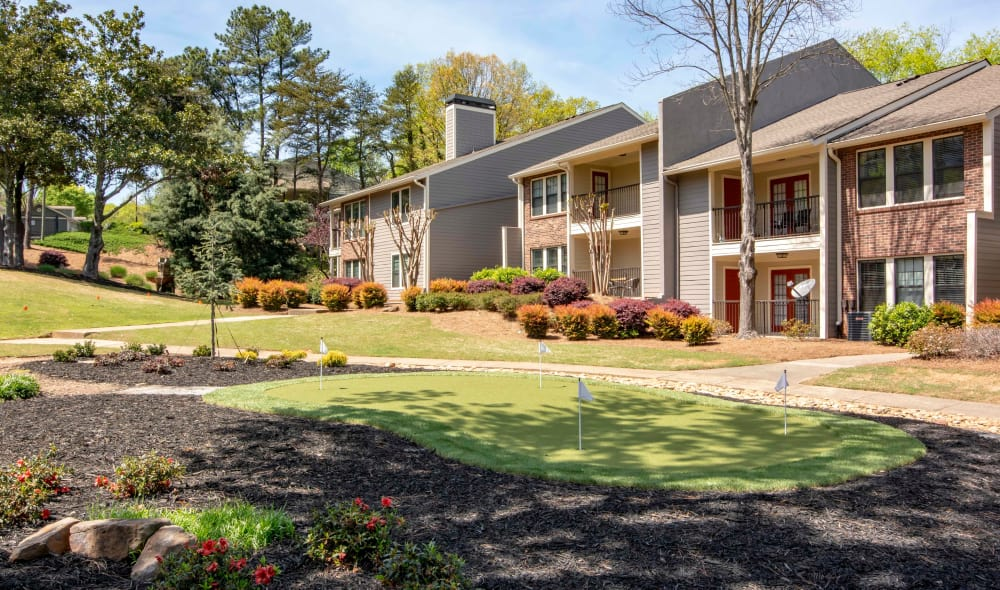 Exterior view of The Residences at Vinings Mountain in Atlanta, GA