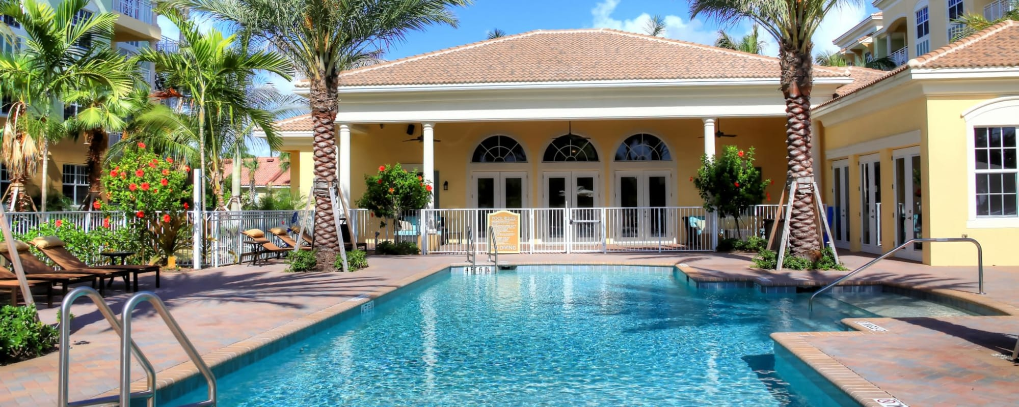 Resort-style swimming pool at Riverwalk Pointe in Jupiter, Florida