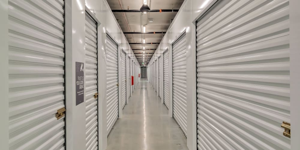 Indoor climate controlled units at StorQuest Self Storage in Hawthorne, California