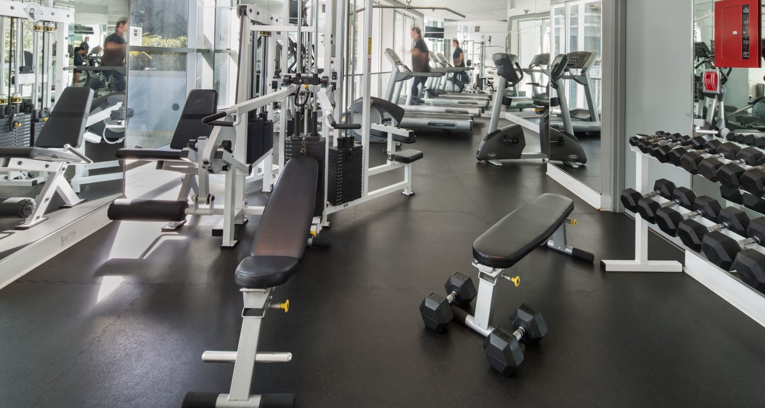 Fitness room at Bayview at Coal Harbour in Vancouver, British Columbia
