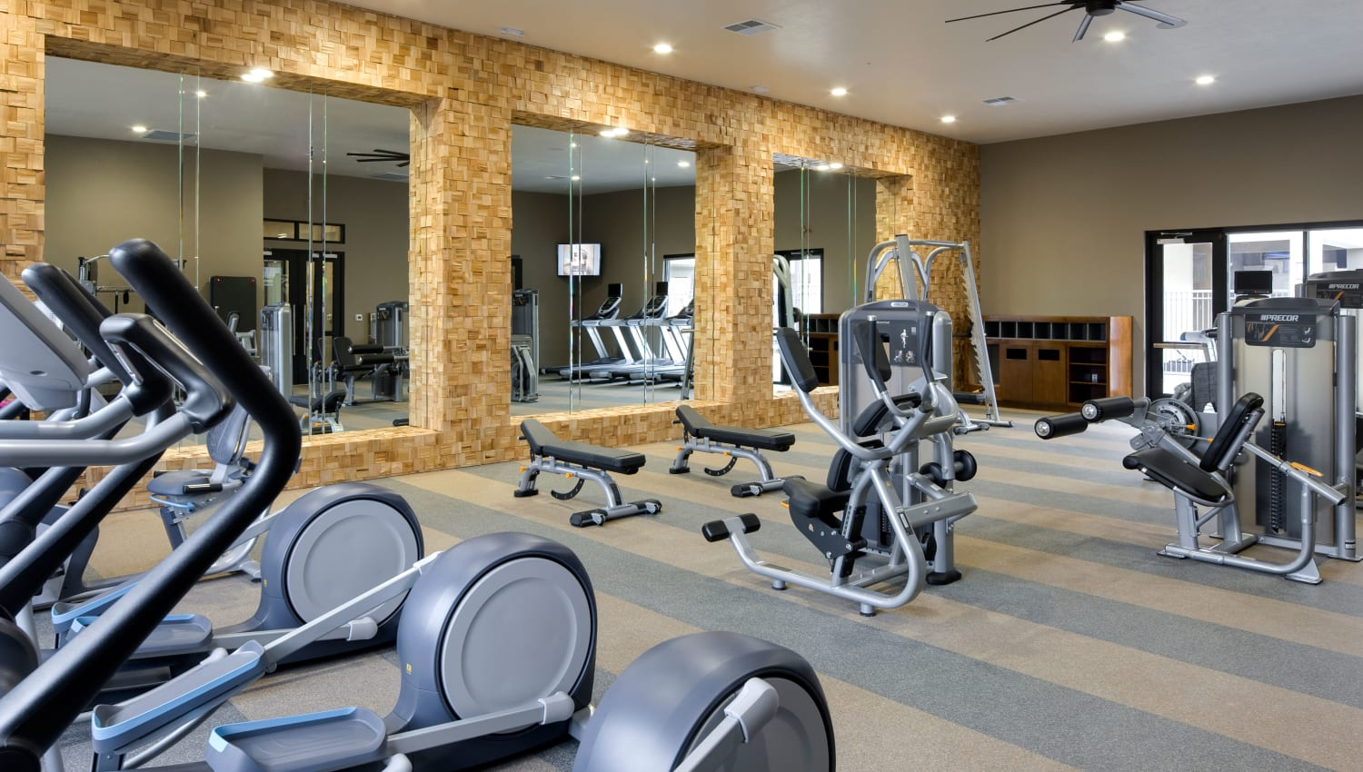 Fitness center at Olympus Alameda in Albuquerque, New Mexico