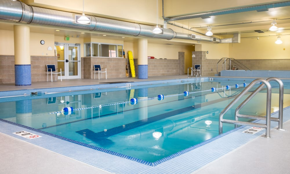 Resident swimming pool at Touchmark on West Century in Bismarck, North Dakota