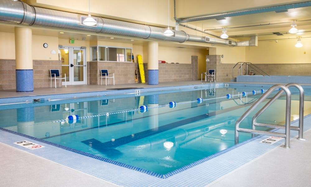 Resident swimming pool at Touchmark on West Century in Bismarck, North Dakota