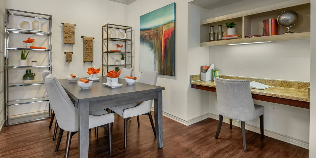Bright and open dining space at Marquis Lakeline Station in Austin, Texas