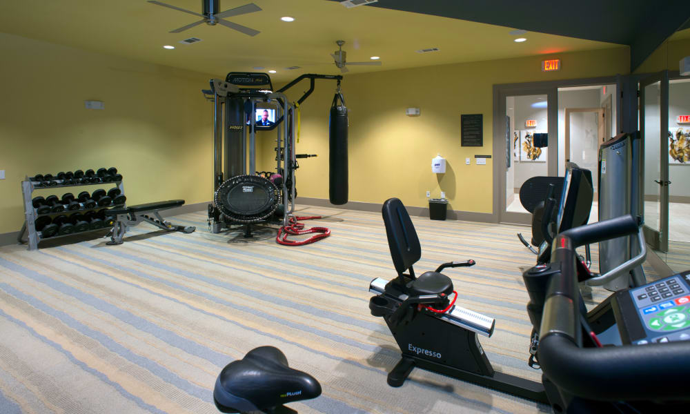 Resident fitness room at Savannah Oaks in San Antonio, Texas