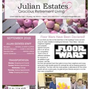 September Julian Estates Gracious Retirement Living Newsletter