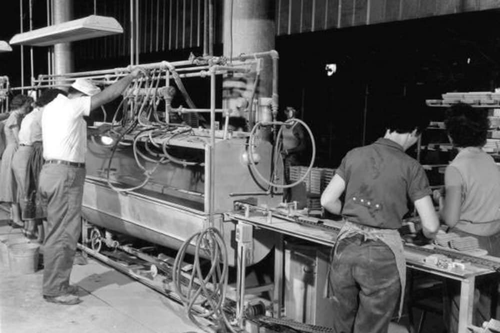 Workers in factory at Jefferson Westshore in Tampa, Florida