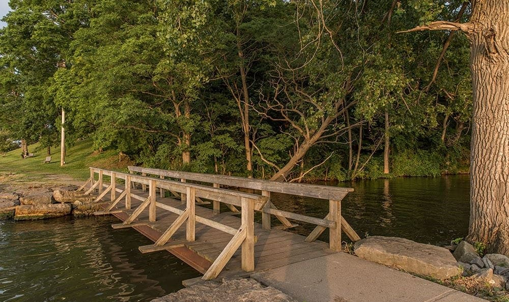 Webster Park bridge in Webster, New York near Waverlywood Apartments & Townhomes
