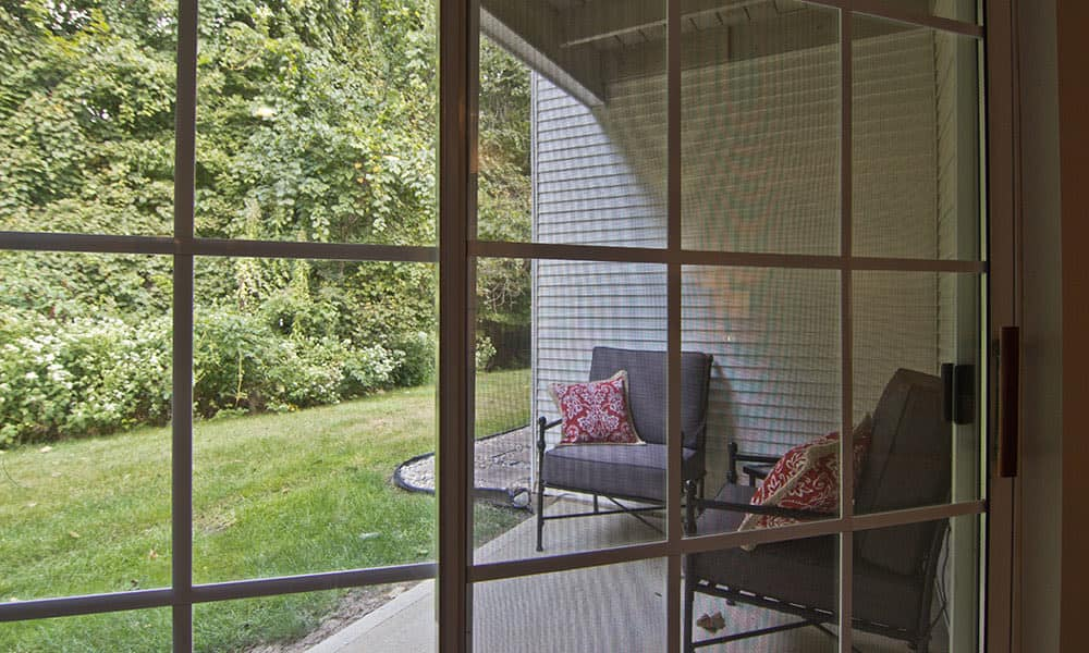 Westerville apartments includes living rooms with attached patios
