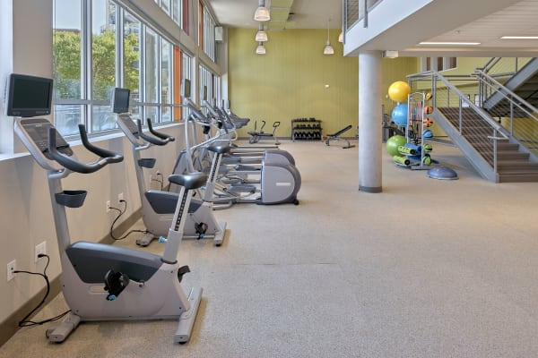 24-hour fitness center at The Maverick in Burien, WA