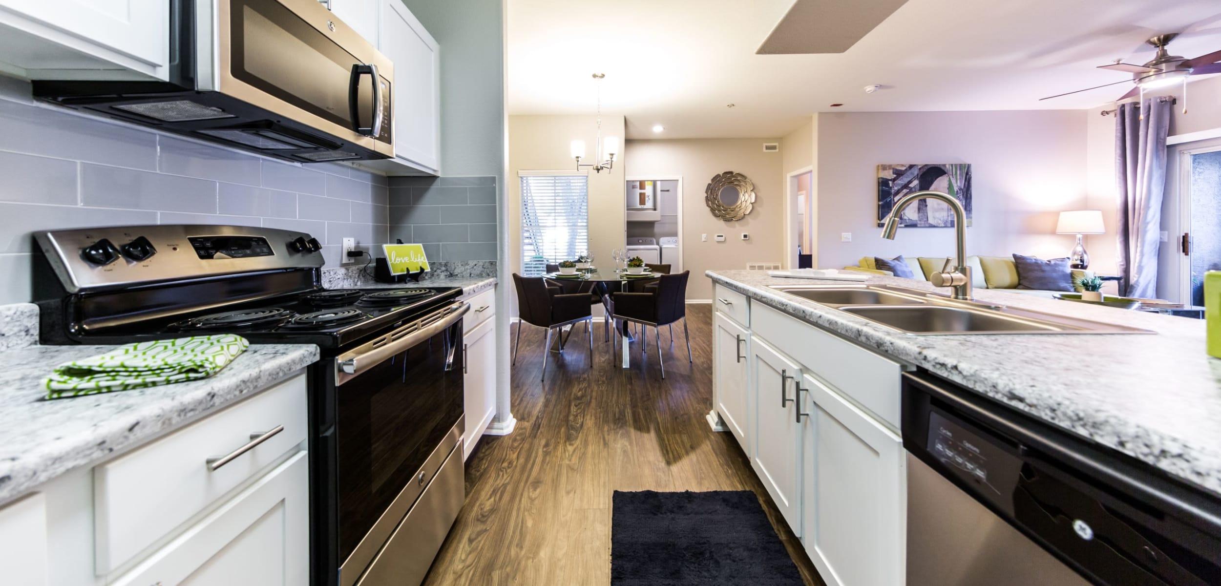 Modern kitchen at Marquis at Arrowhead in Peoria, Arizona