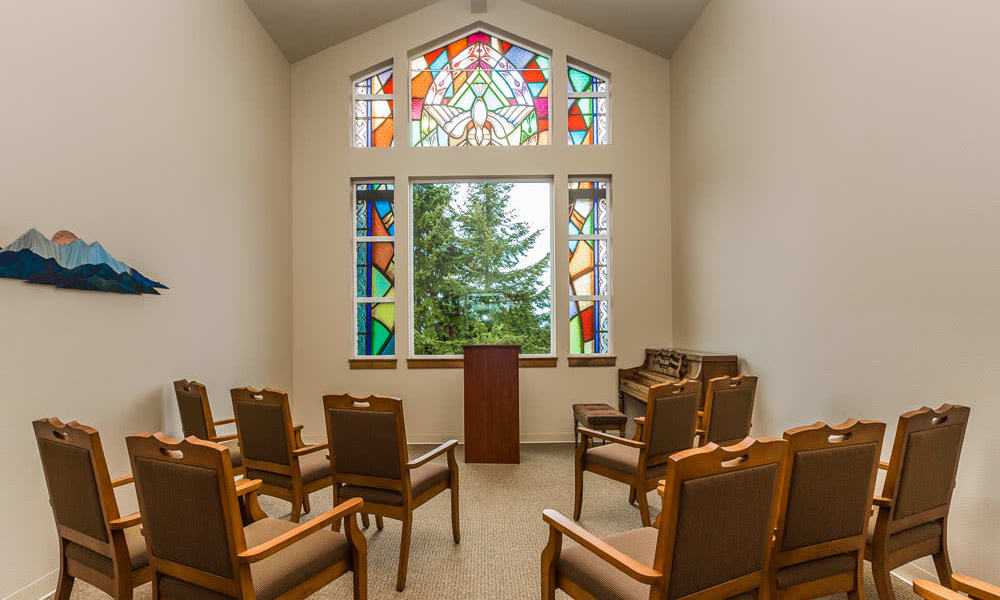 In house chapel at Quail Park of Lynnwood in Lynnwood, Washington