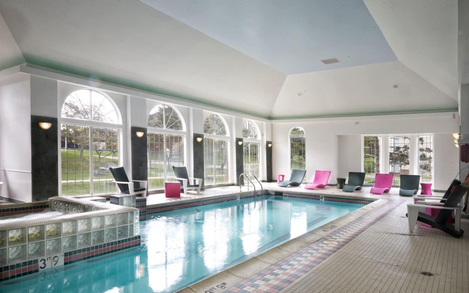 Indoor pool at Citation Club in Farmington Hills, Michigan