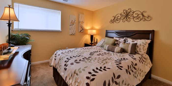 Beautiful bedroom at Gwynn Oaks Landing Apartments & Townhomes in Baltimore, Maryland