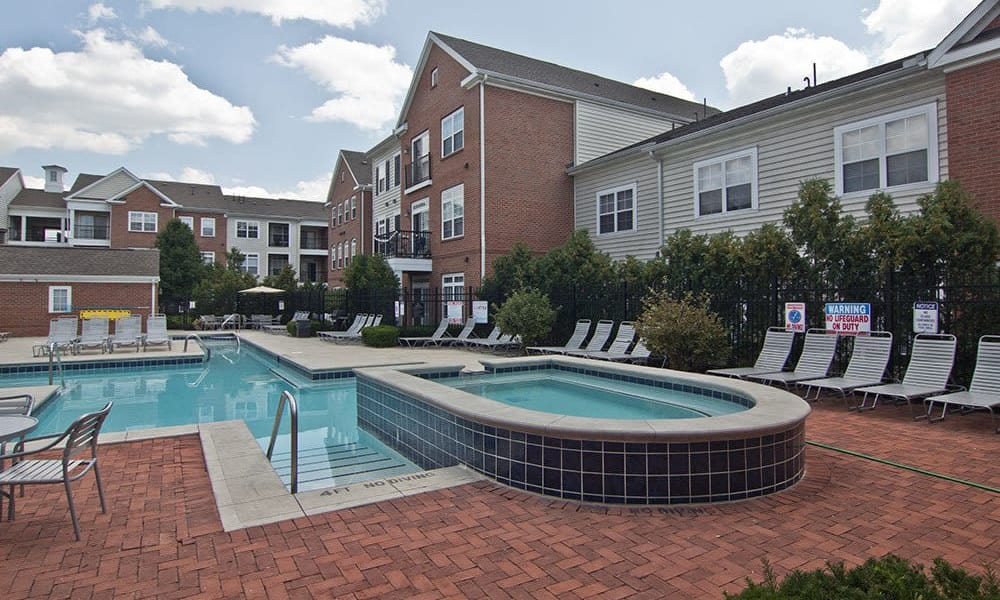 Beautiful swimming pool at apartments in Toledo, OH