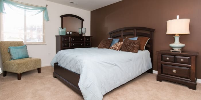 Bedroom at Skylark Pointe Apartment Homes in Parkville, Maryland
