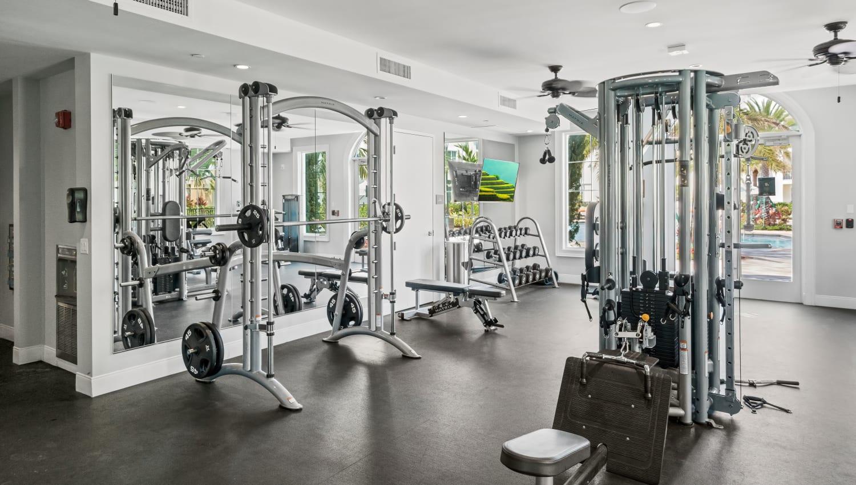 State-of-the-art fitness center at Town Lantana in Lantana, Florida