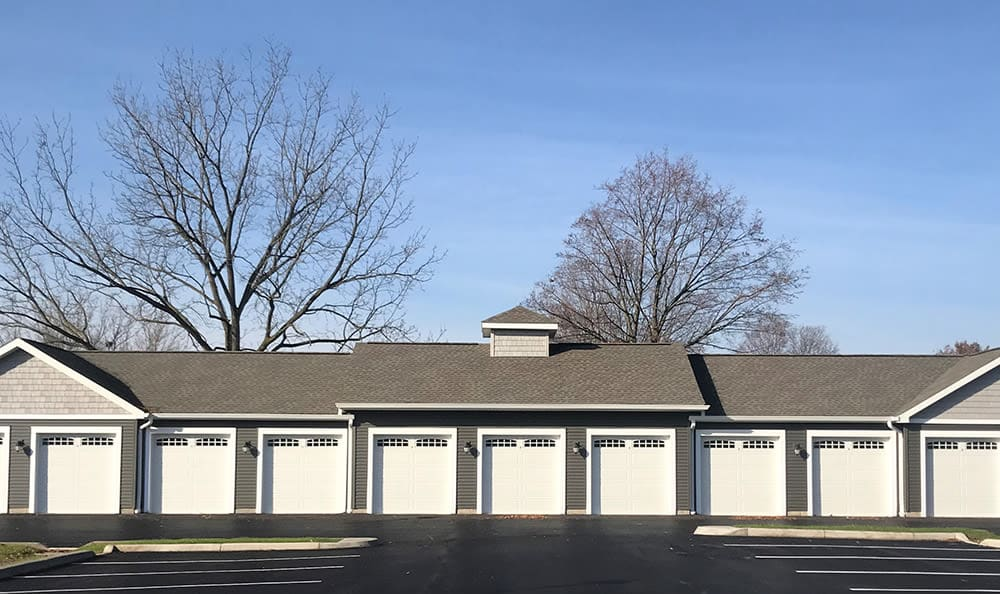 Garage at Village Heights Senior Apartments in Fairport, NY