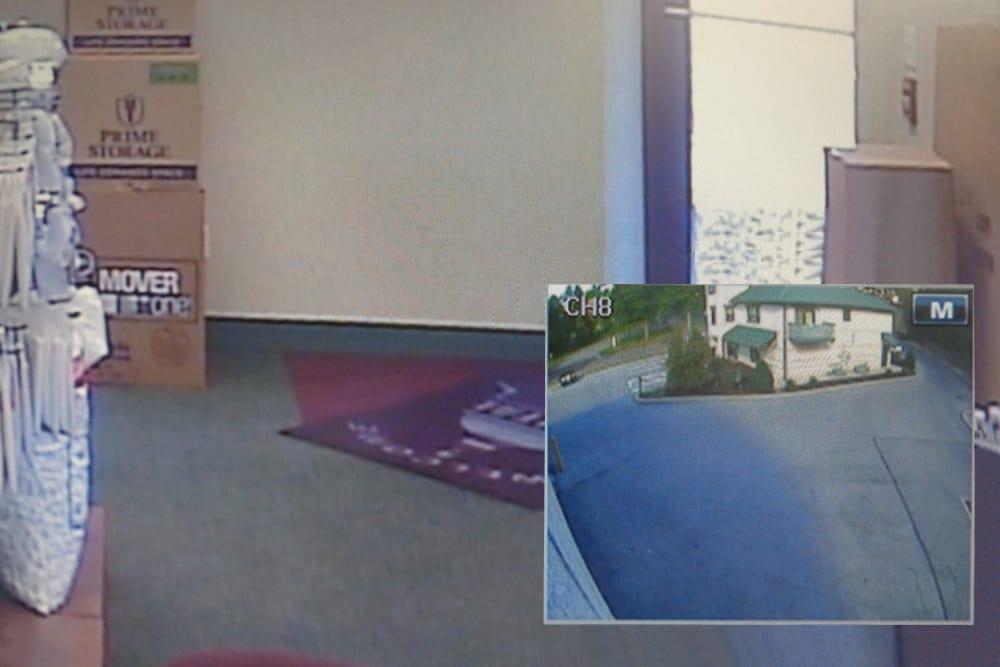 Security camera monitors at Capital Self Storage in Harrisburg, PA