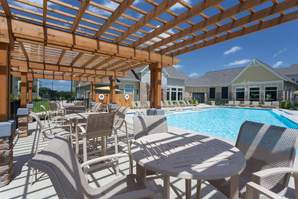 Swimming pool at Encore 281 in San Antonio, Texas