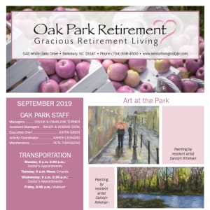 September Oak Park Retirement Newsletter