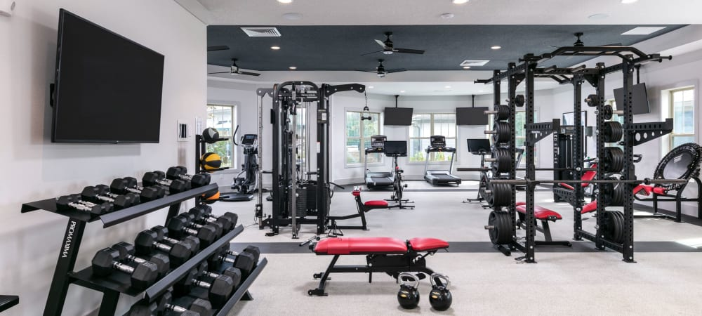 Gorgeous workout area in Integra 289 Exchange in DeBary, Florida