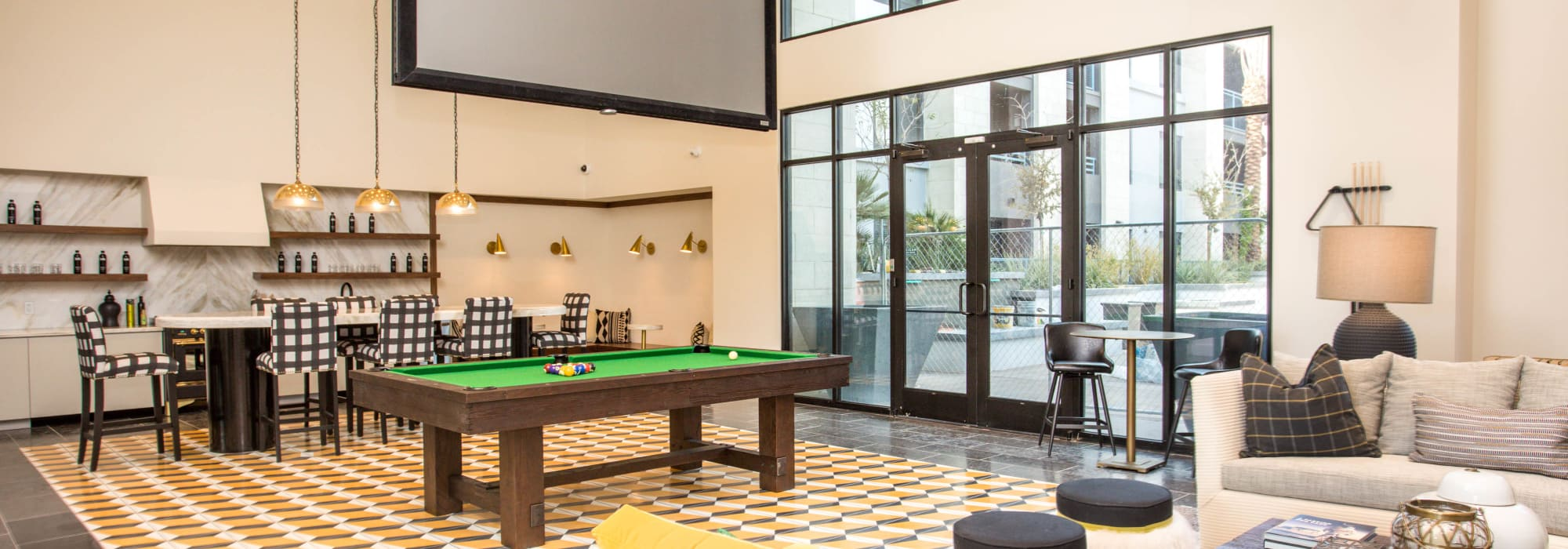 Spacious clubhouse to entertain friends and family at Lakeside Drive Apartments in Tempe, Arizona