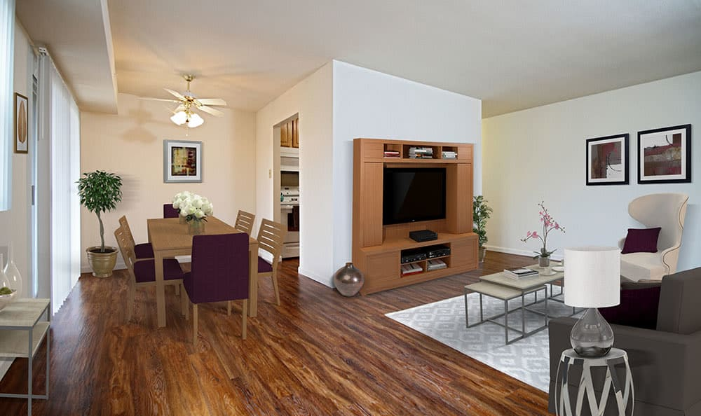 Nice hardwood floors in our Harrisburg, Pennsylvania apartments