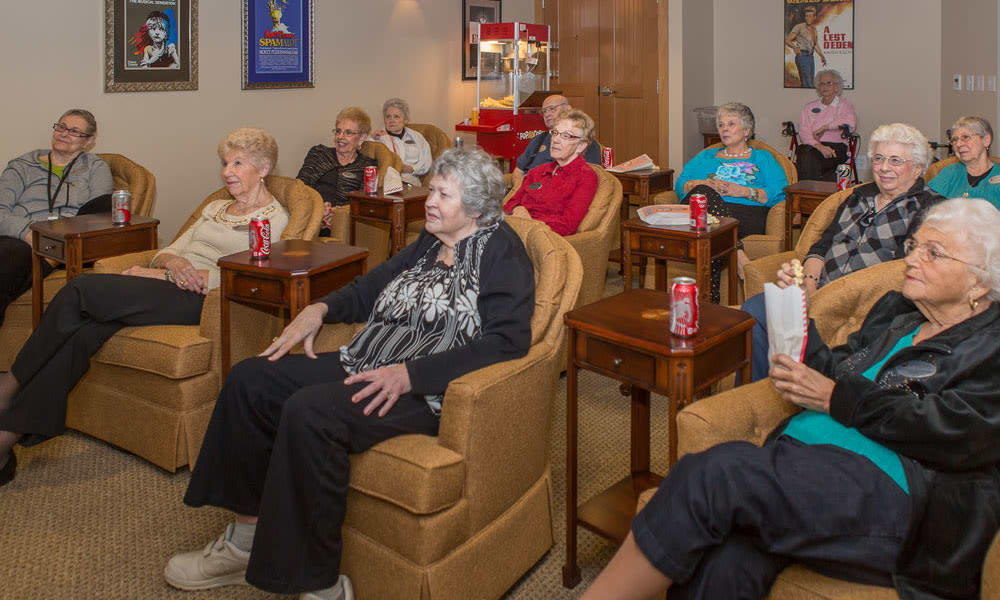 Senior living seminar at Quail Park of Lynnwood in Lynnwood, Washington