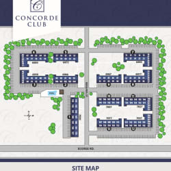 Site Map at Concorde Club Apartments in Romulus, MI.
