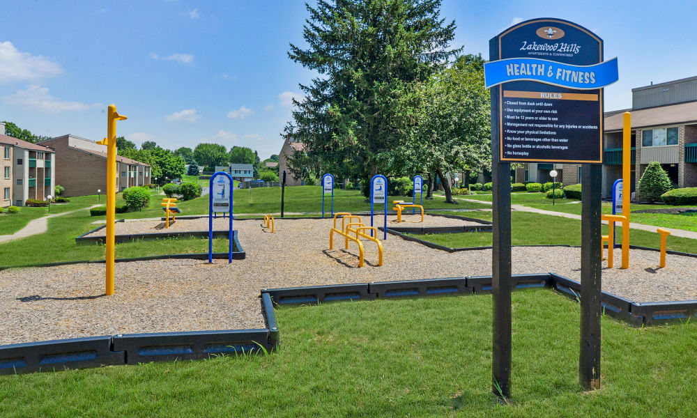 Outdoors health and fitness equipment at Lakewood Hills Apartments & Townhomes in Harrisburg, PA